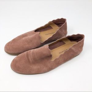 Lucky brand dusty rose scalloped flats